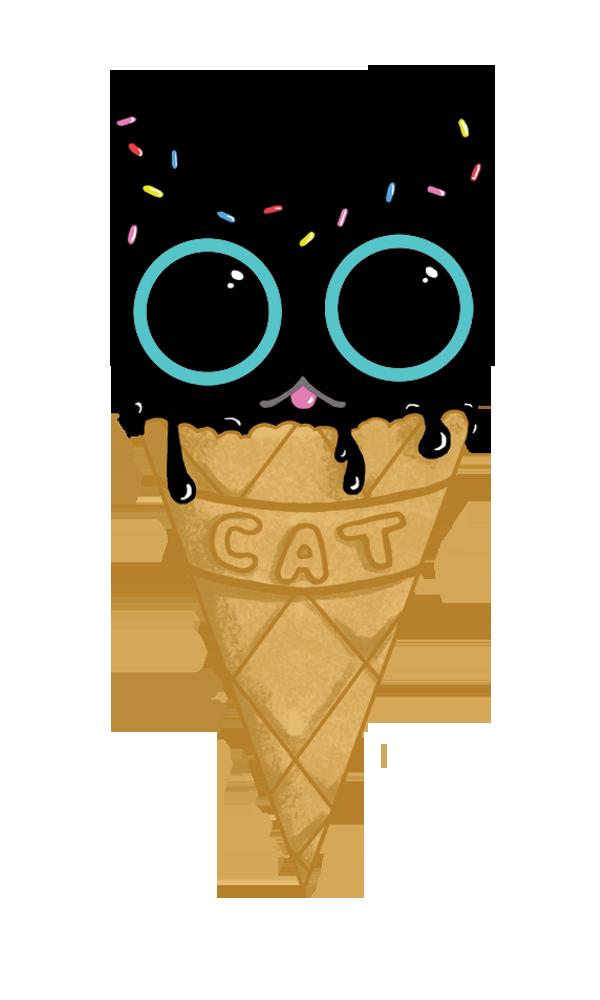 kittyconesticker
